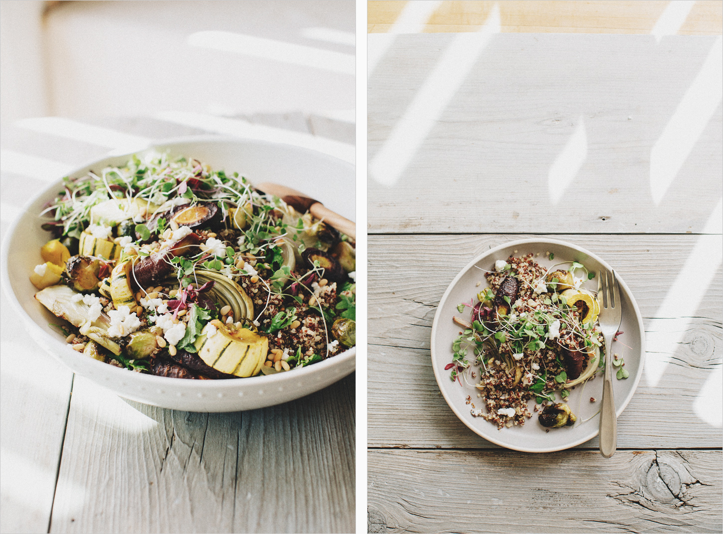 Roasted Vegitables & Quinoa Bowl . Sprouted Kitchen