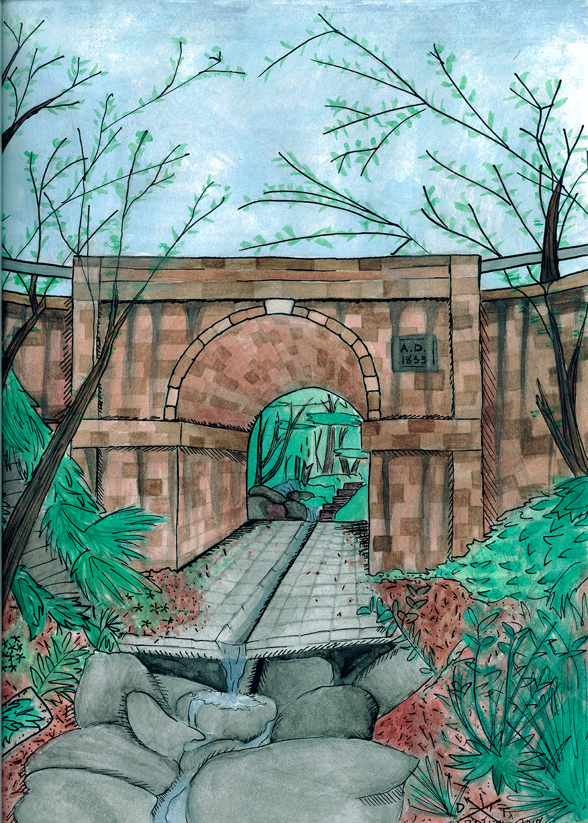 "Lennox Bridge- Published in ""The Bridge and the Wall"" by Debora Gordon"