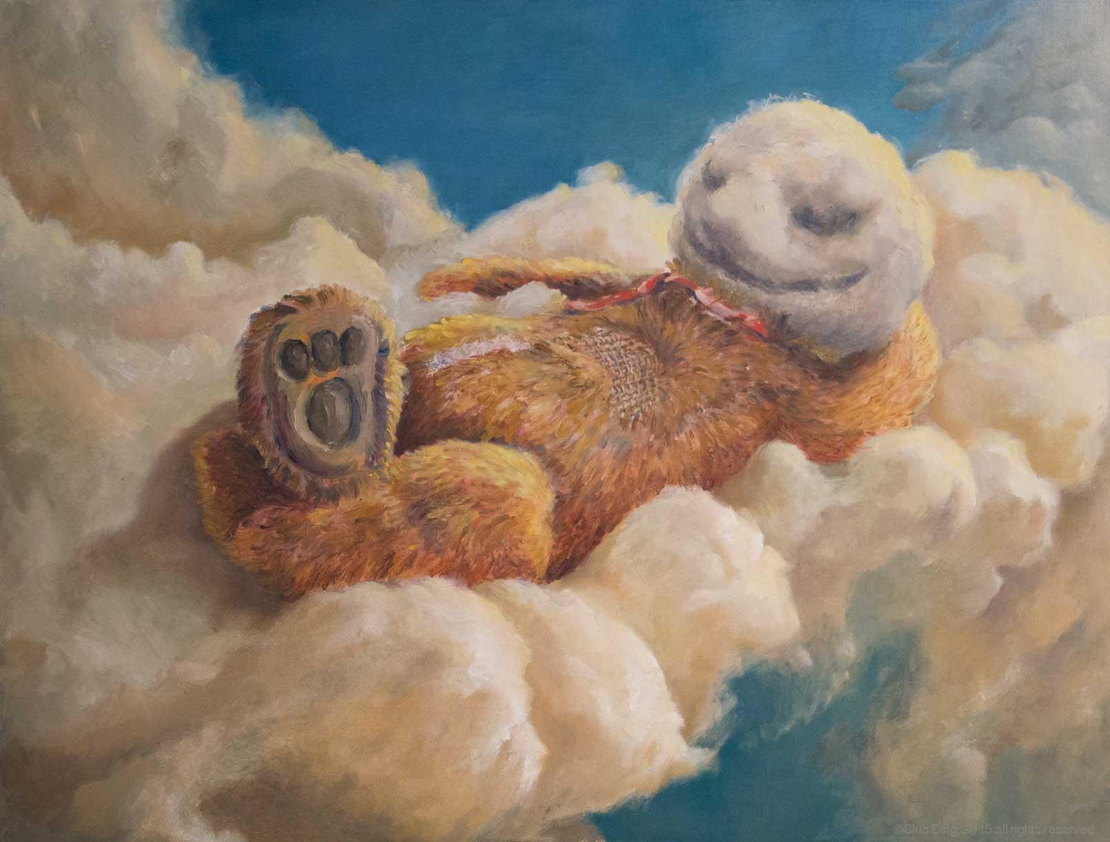 """""""Teddy"""" 2014  oil on art bord  18"""" x 23"""""""