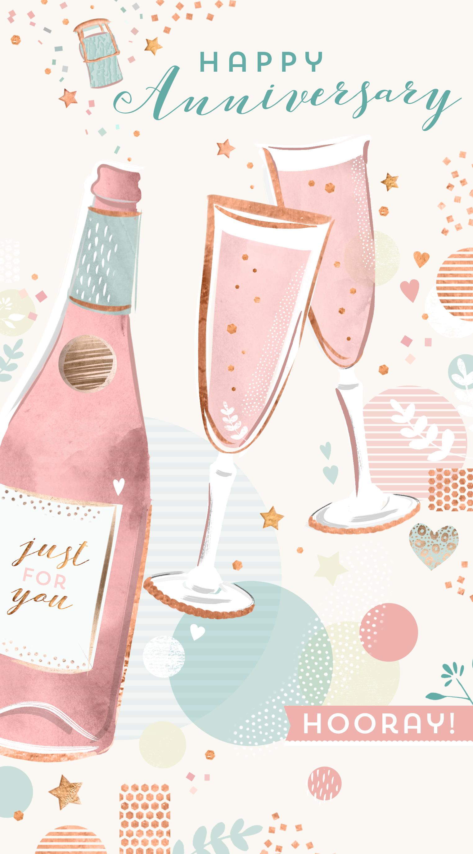 Anniversary card design by Martha Bowyer