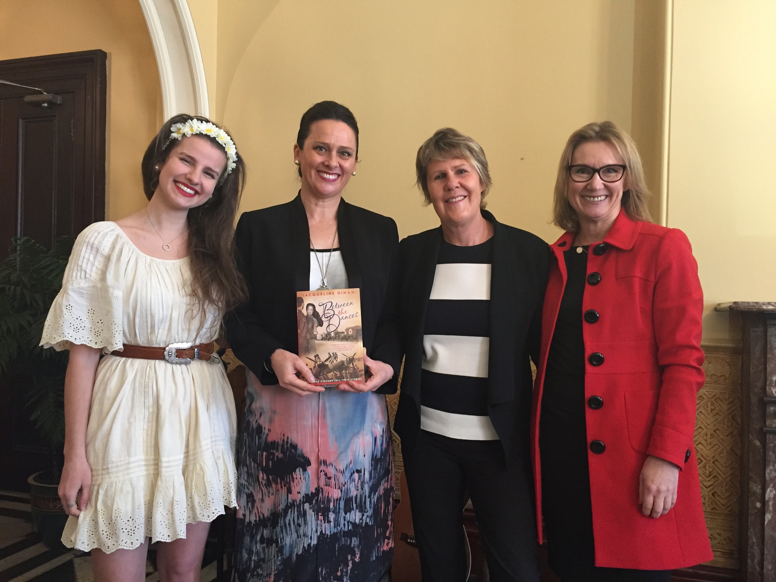 Imogen Clark, Fran Kelly, Jacqueline Dinan and Publisher Jane Curry
