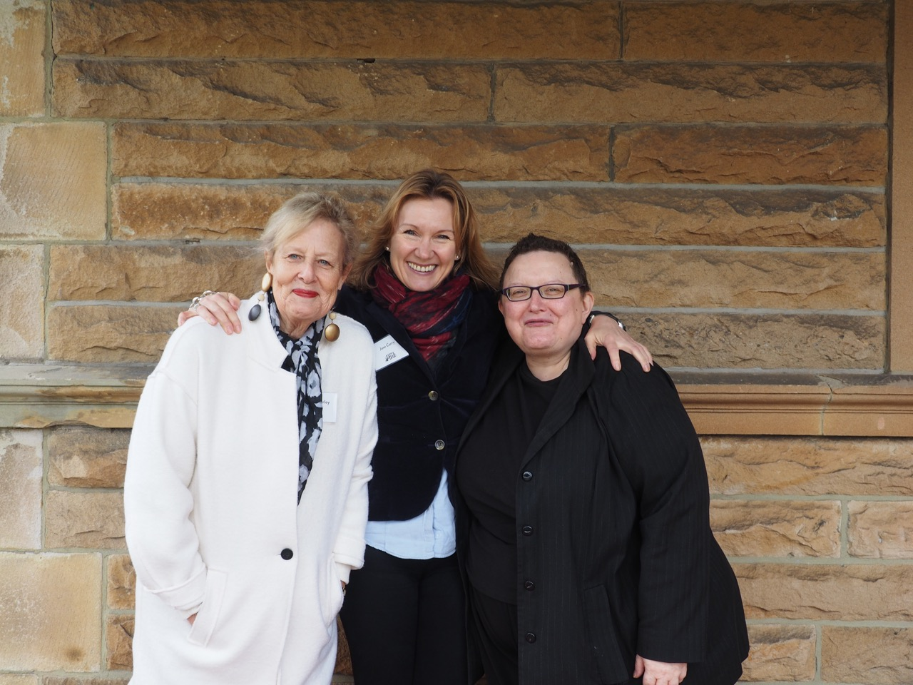 Publisher Jane Curry with Annabel Morley and Maria Katsonis. Photo by John Grant.