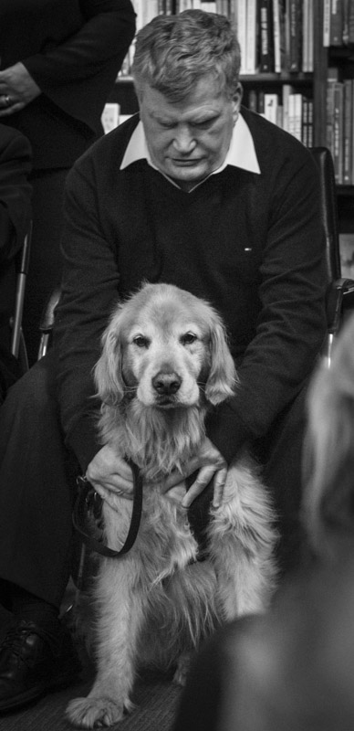 Nick with his friend and guide dog Unity.