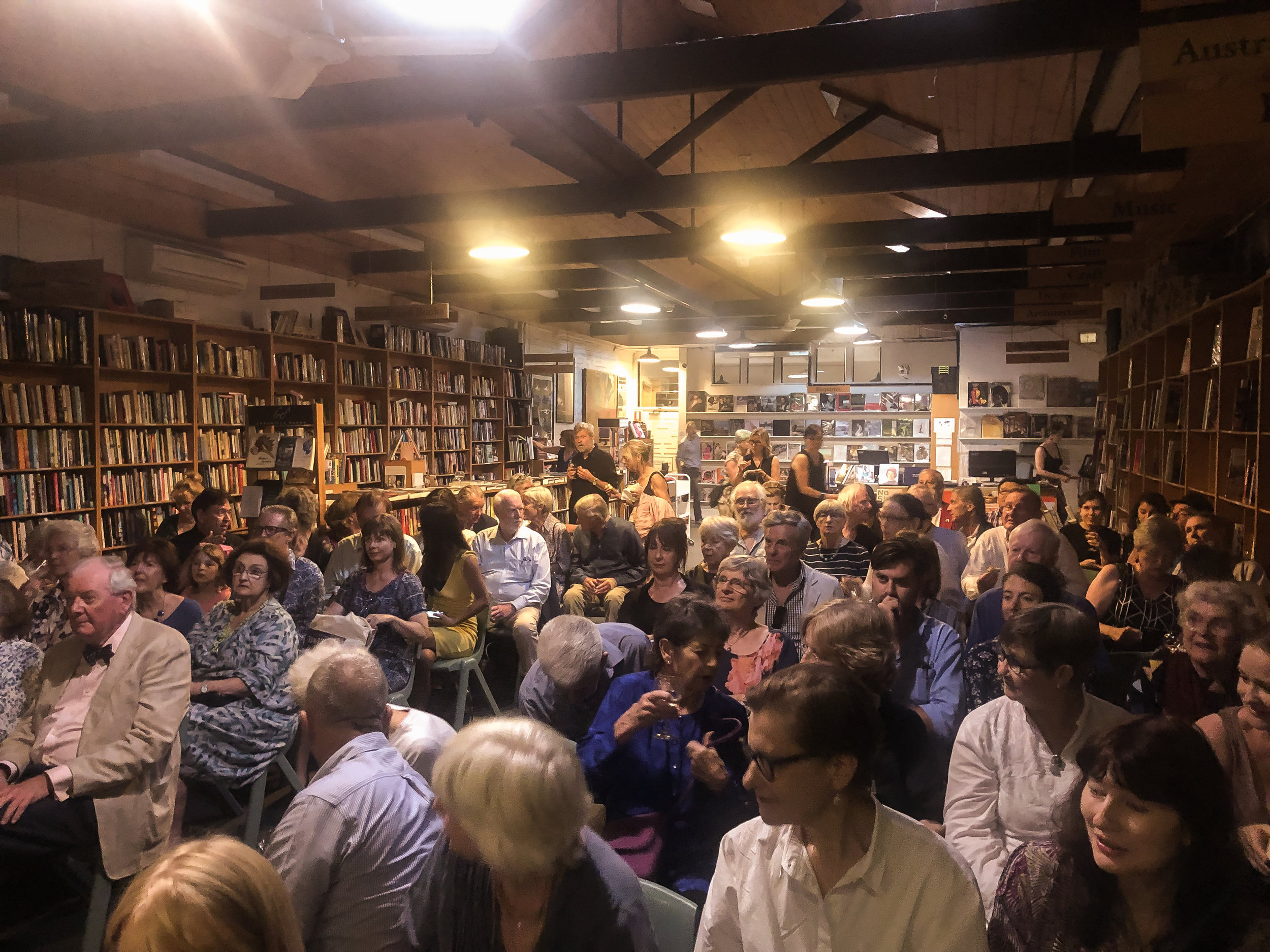 A full house at Gleebooks