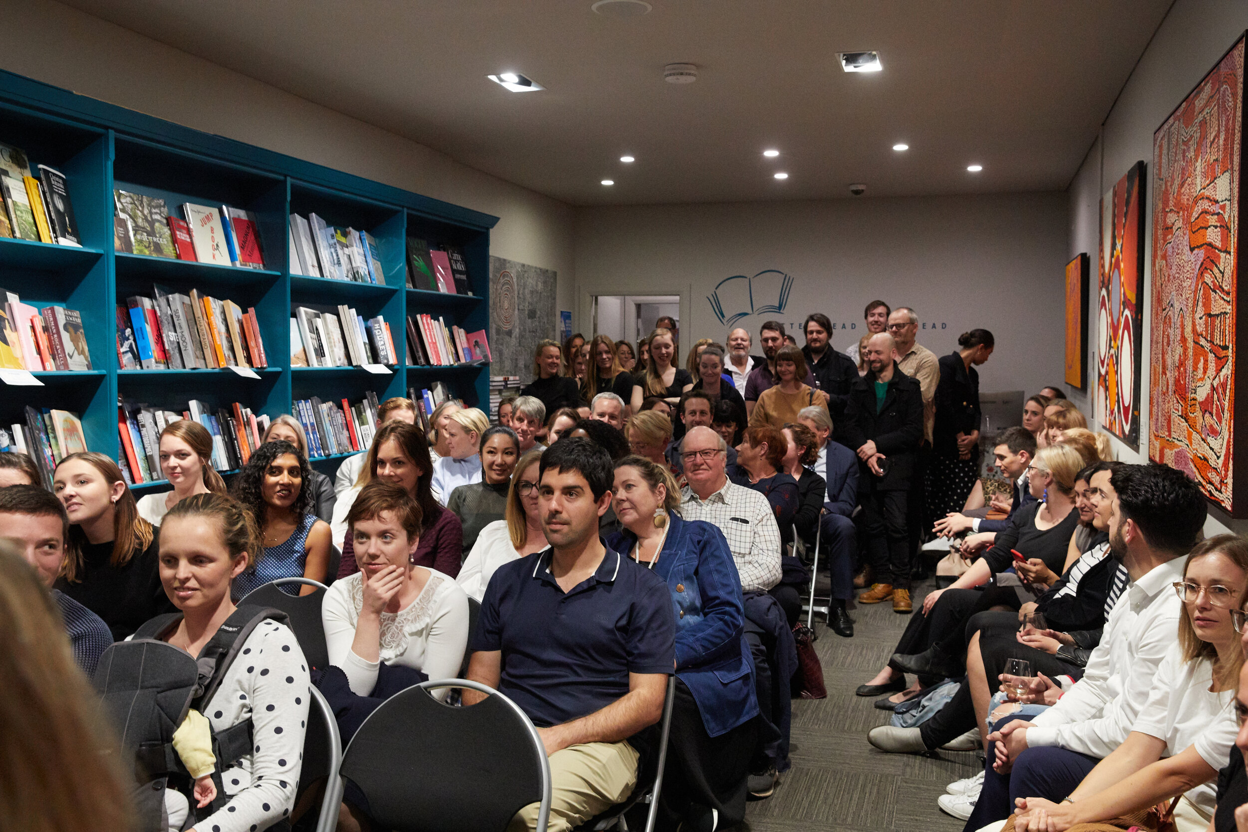 A huge crowd gathered upstairs at Better Read Than Dead