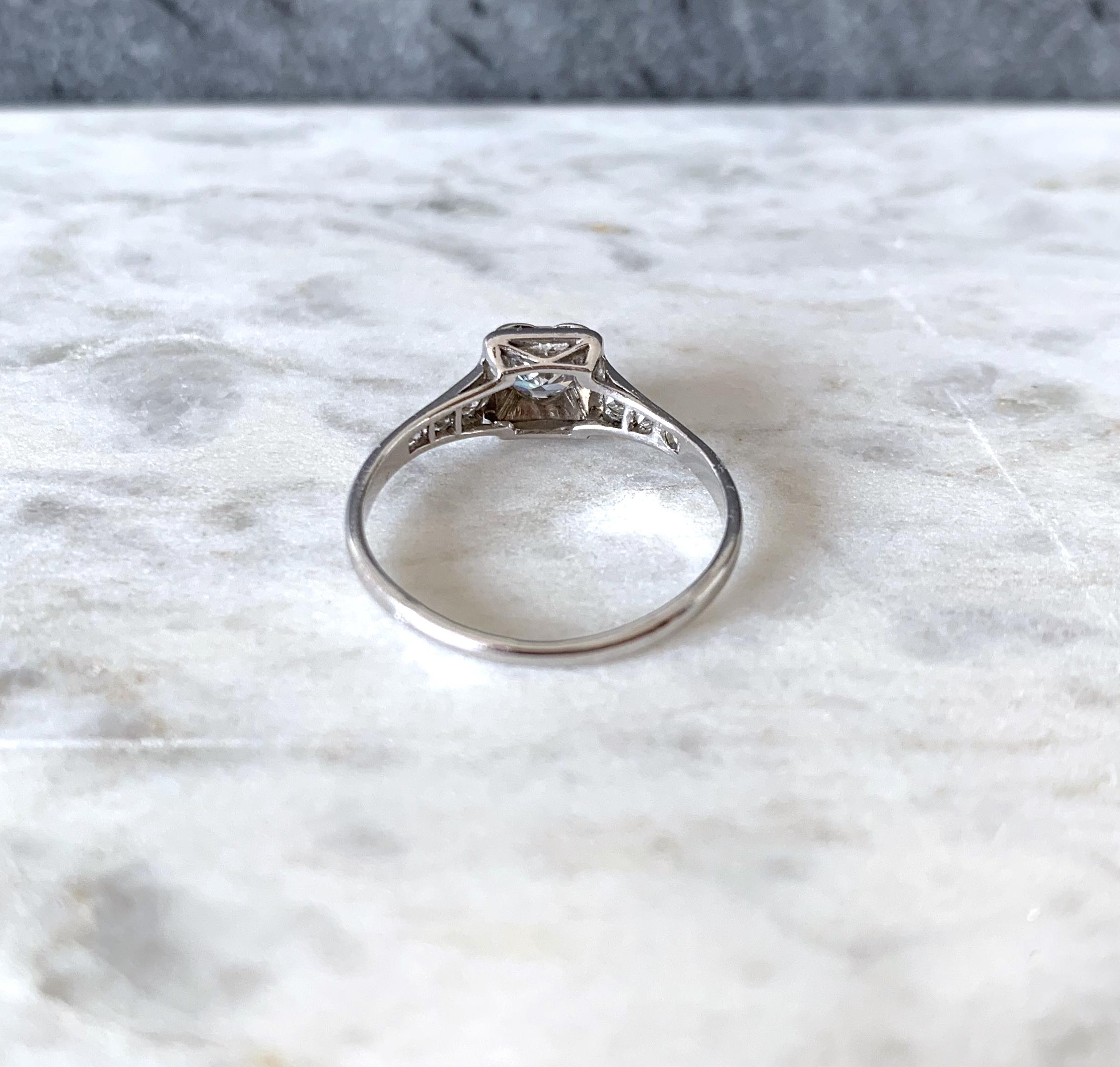 bague diamant solitaire ancien