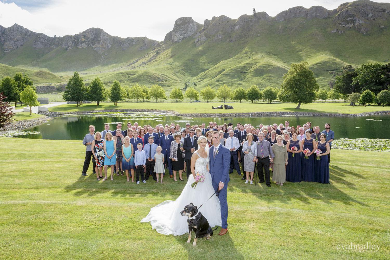 group photo craggy range wedding photography