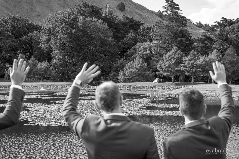 waving craggy range wedding photography