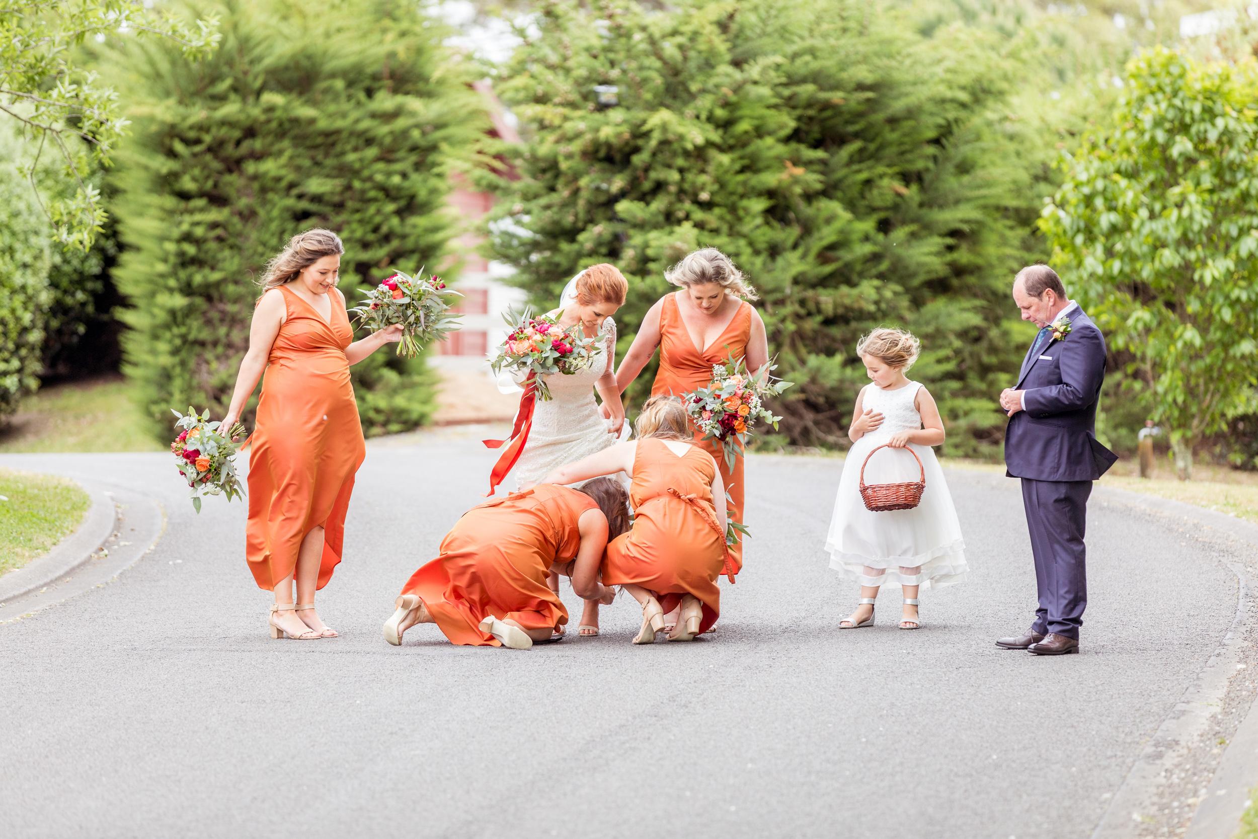 burnt-orange-bridemaids-dresses-rust