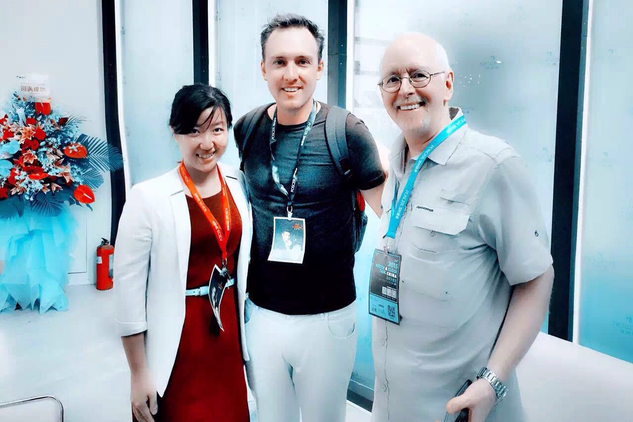 Tina from Rossini, myself and Ron    (thanks Li Wei for the photo!)