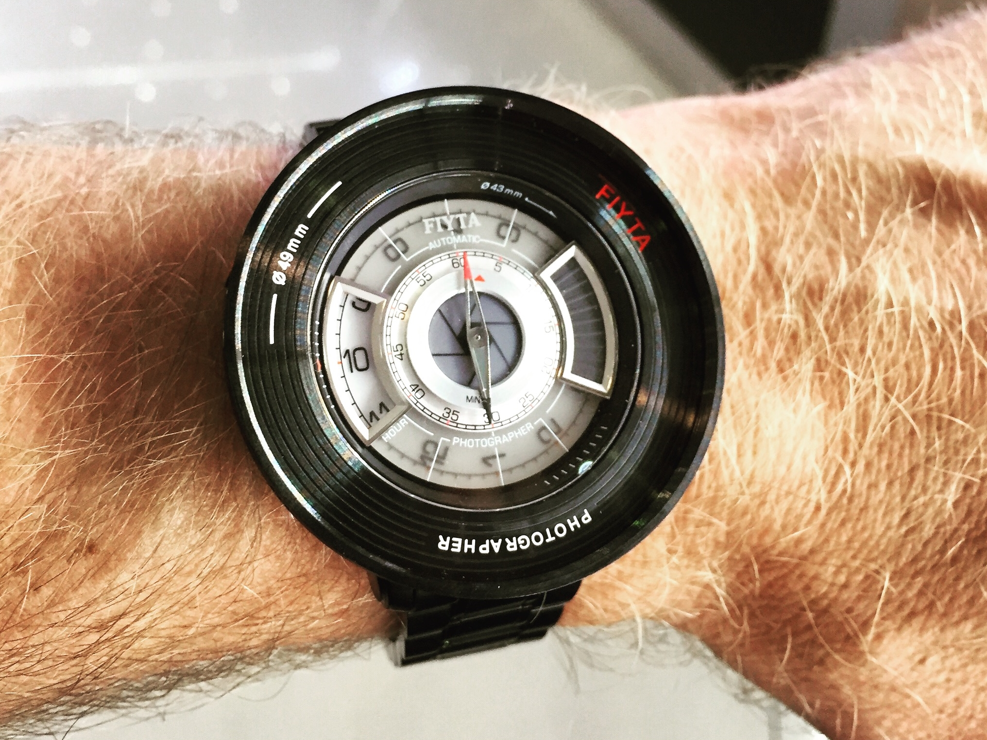 The widest bezel attachment is 49mm