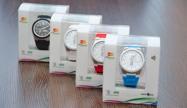 AK Bars Bank Watch with NFC technology and a SIM card linked to a bank card - special issue for the Universiade in Kazan