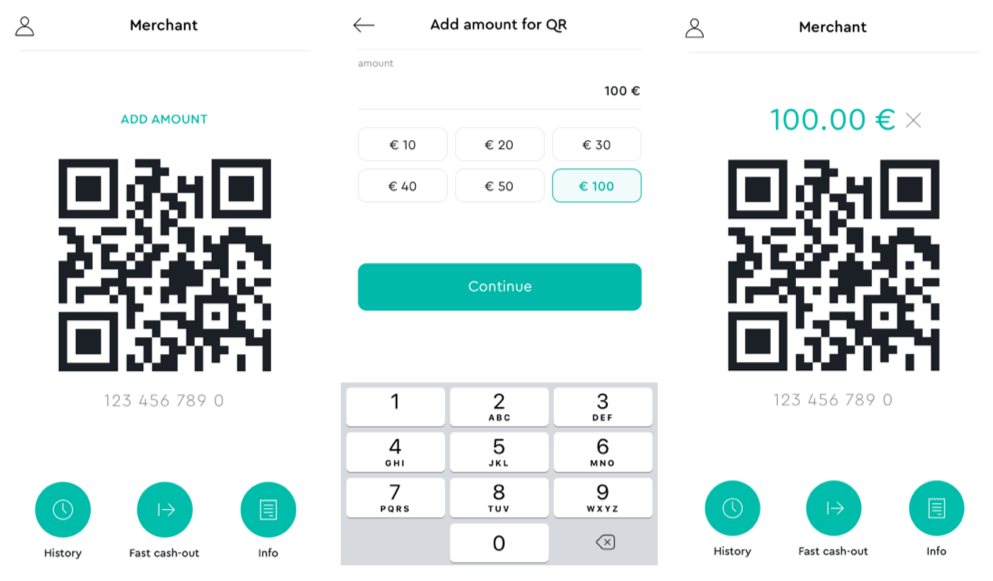 Easy QR-code generation for payment acceptance