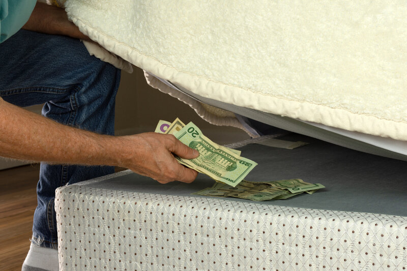 Banknotes in foreign currency are often stored in socks, mattresses and other hiding places. (Image source: considerable.com)