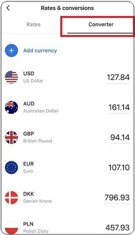 Revlout offers a mobile app for currency conversion.