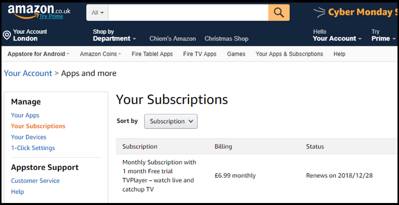 Amazon Subscriptions don't allow you to change the payment currency.