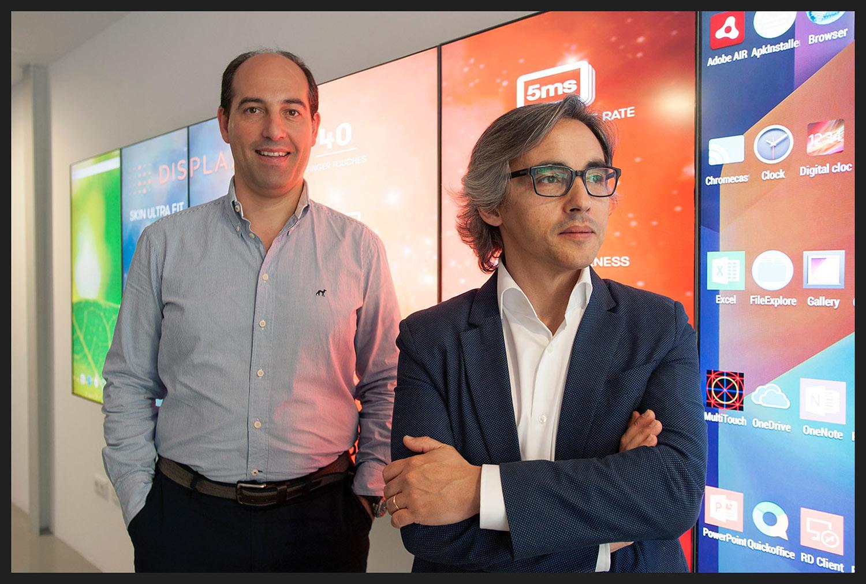 Miguel Fonseca e Miguel Oliveira, da empresa  EDIGMA , Braga.