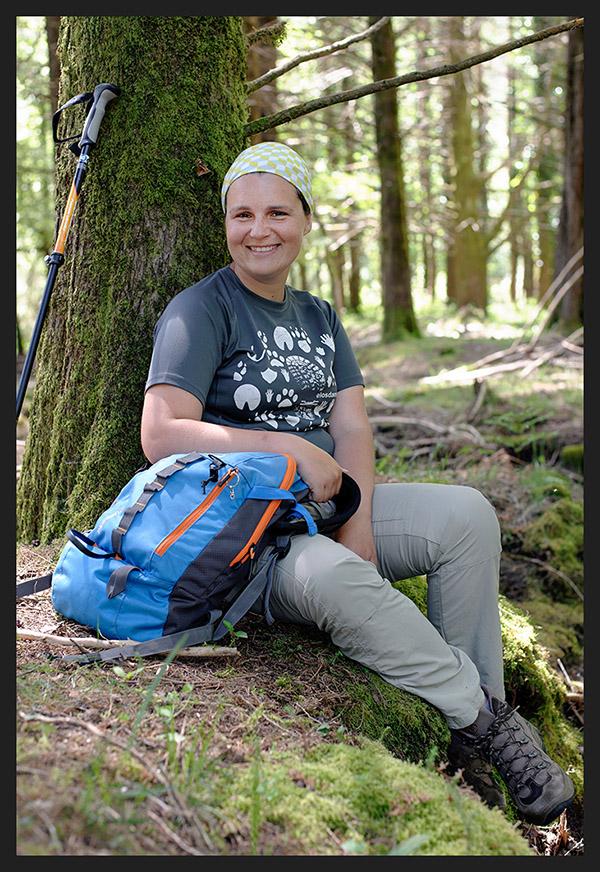Patrícia Gonçalves ( Elos da Montanha ), que percorre e faz marcação de trilhos no PNPG.