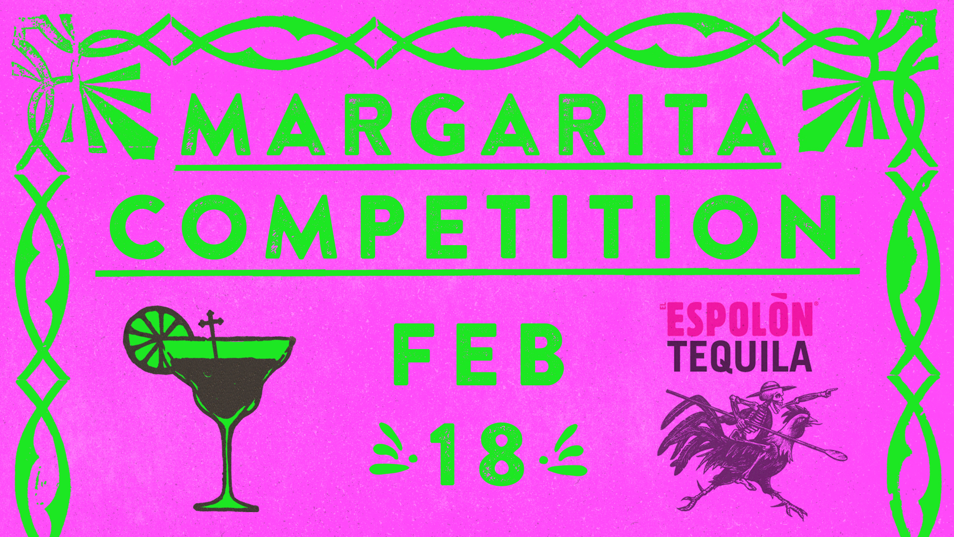 Watch as some of the most talented bartenders in yeg face off to win best margarita, bragging rights and prizes!  The competition starts at 9pm but make sure you come early to join us for Sunday dinner. Book your table  HERE .