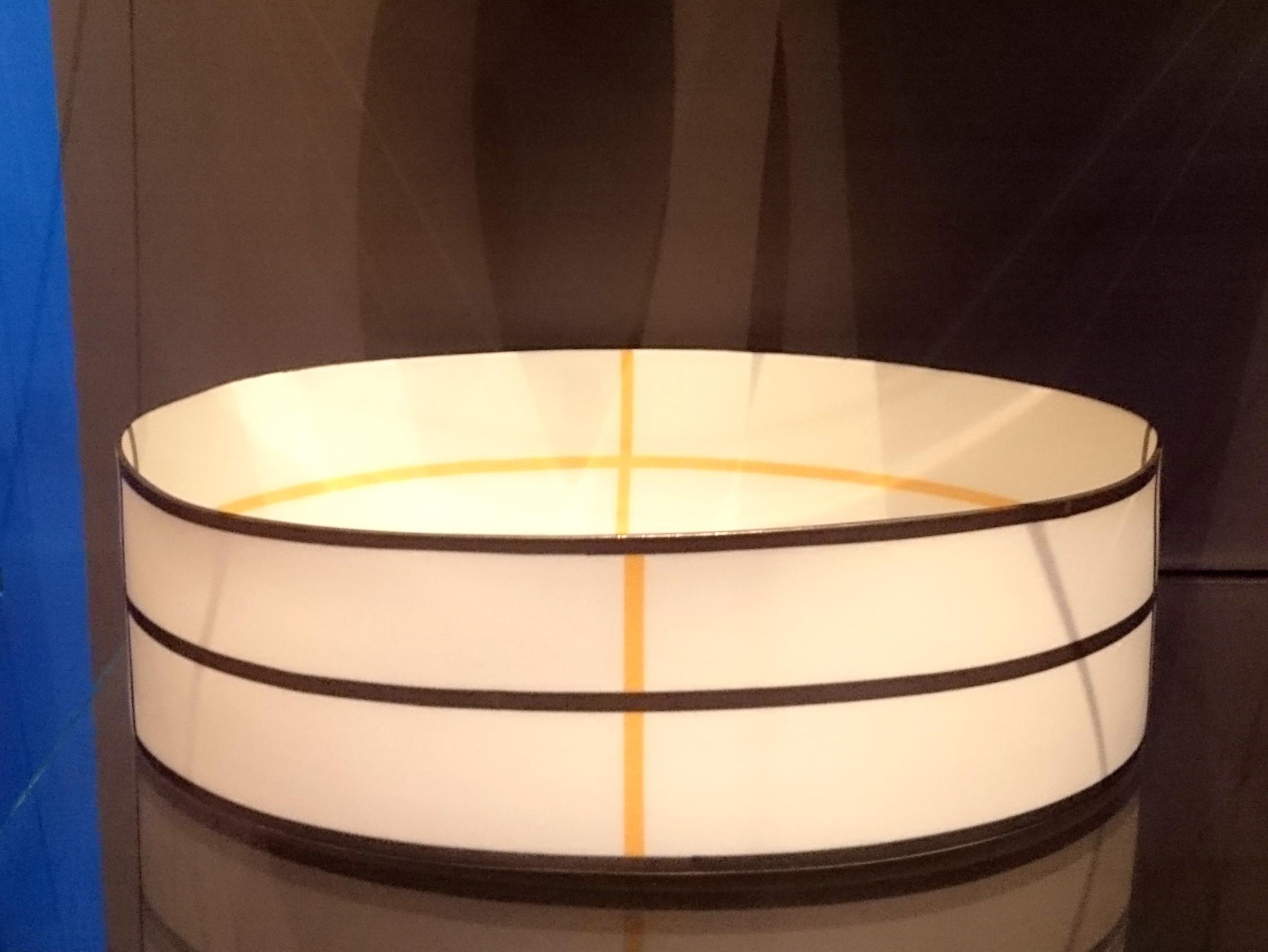 Porcelain oval form by Bodil Menz, 2004