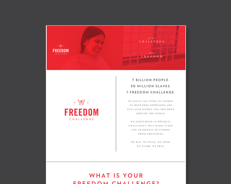 """Create a call to action in your community with this """"WHAT IS YOUR FREEDOM CHALLENGE?"""" flyer."""