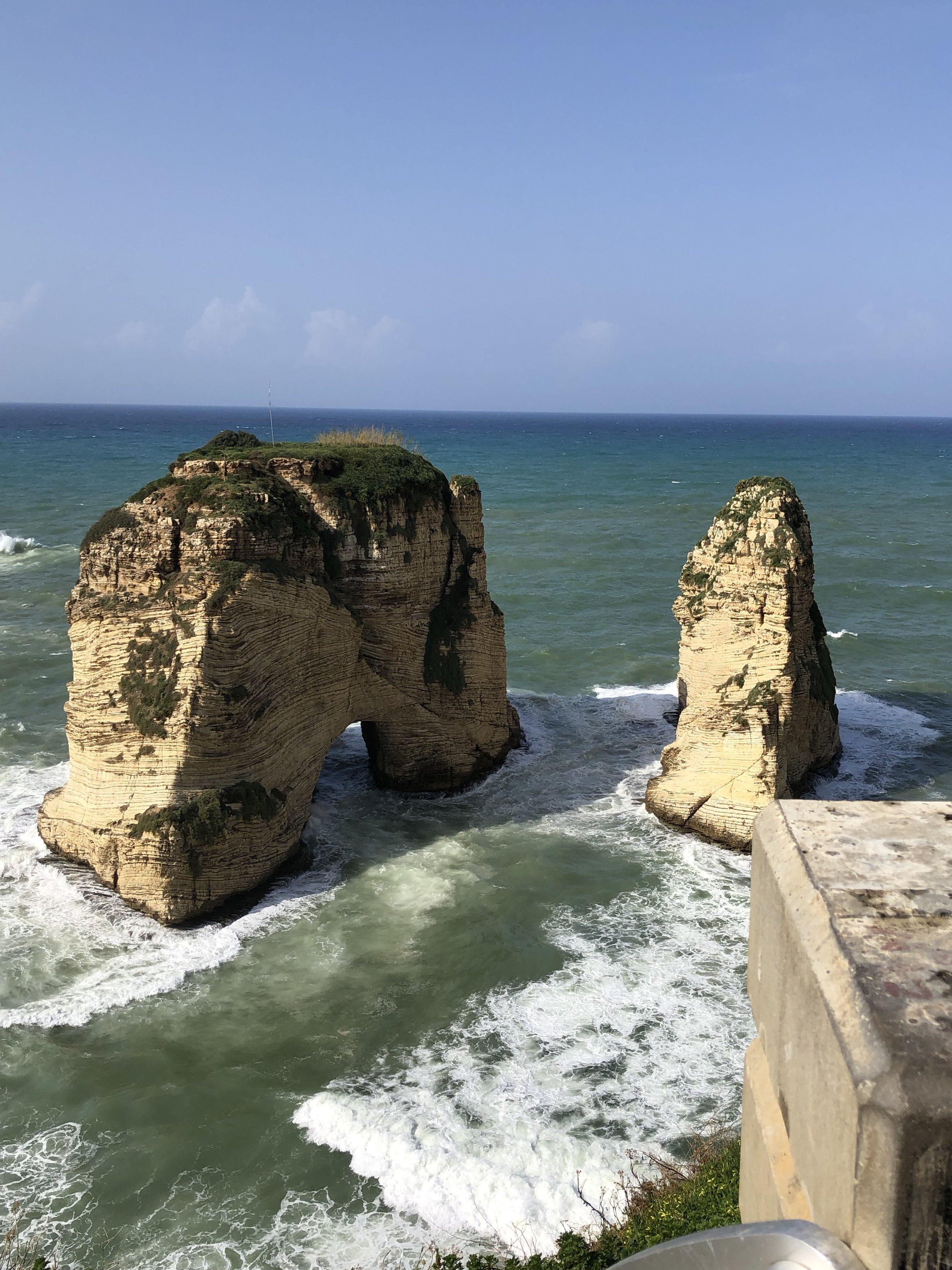 Pidgeon Rock, Beirut
