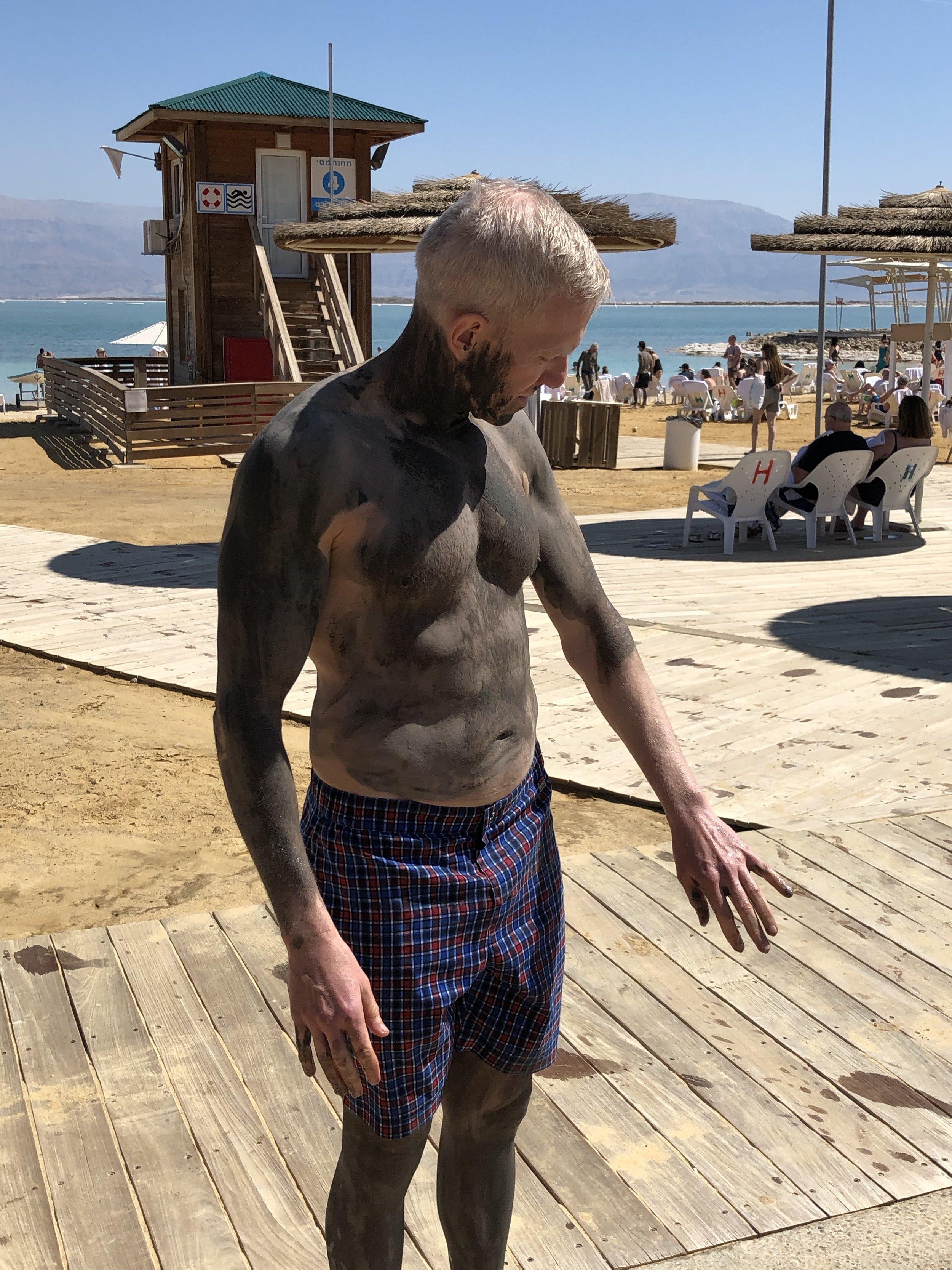 Mud before floating, Dead Sea