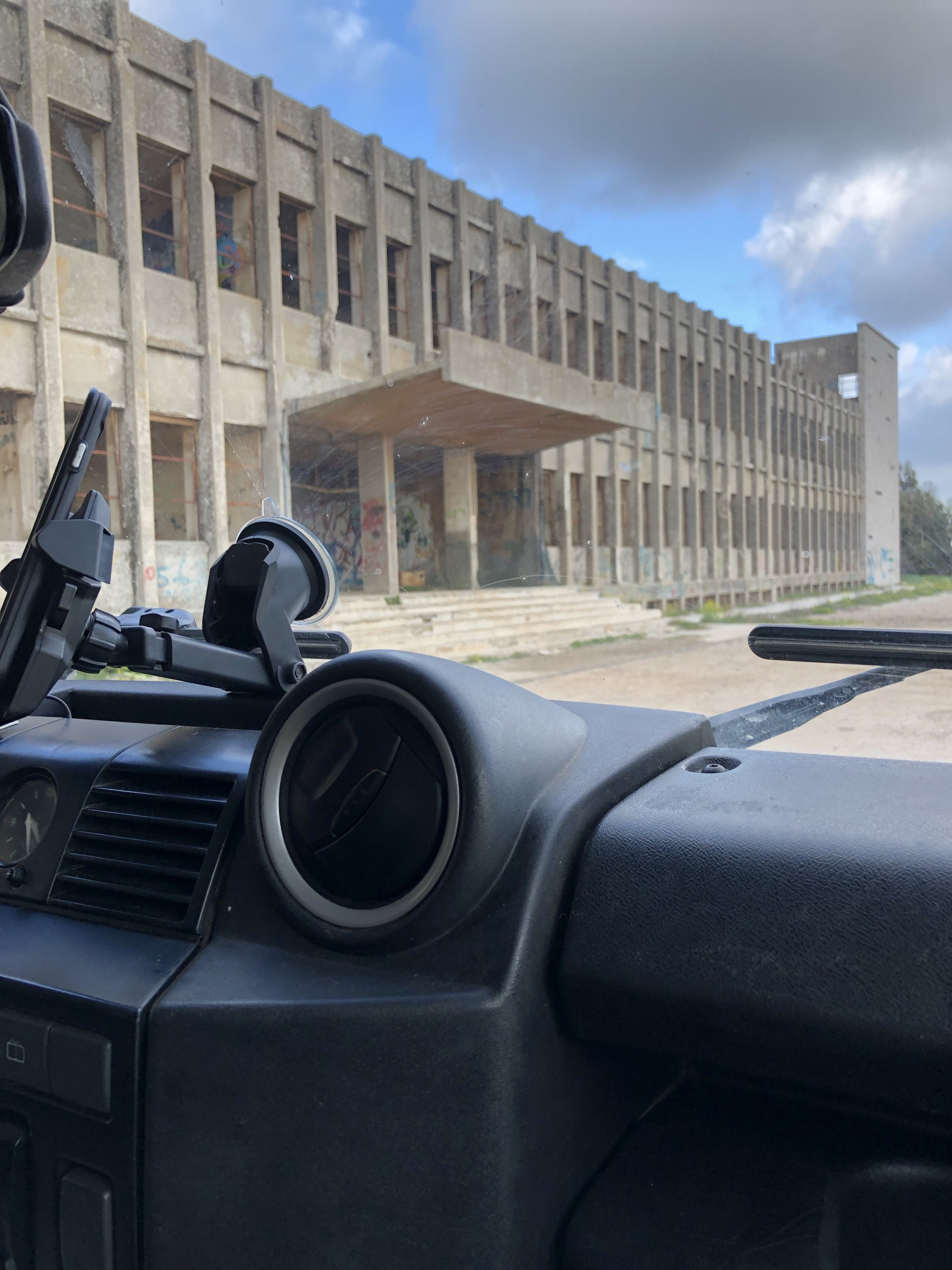 former Syrian Army HQ, Golan Heights