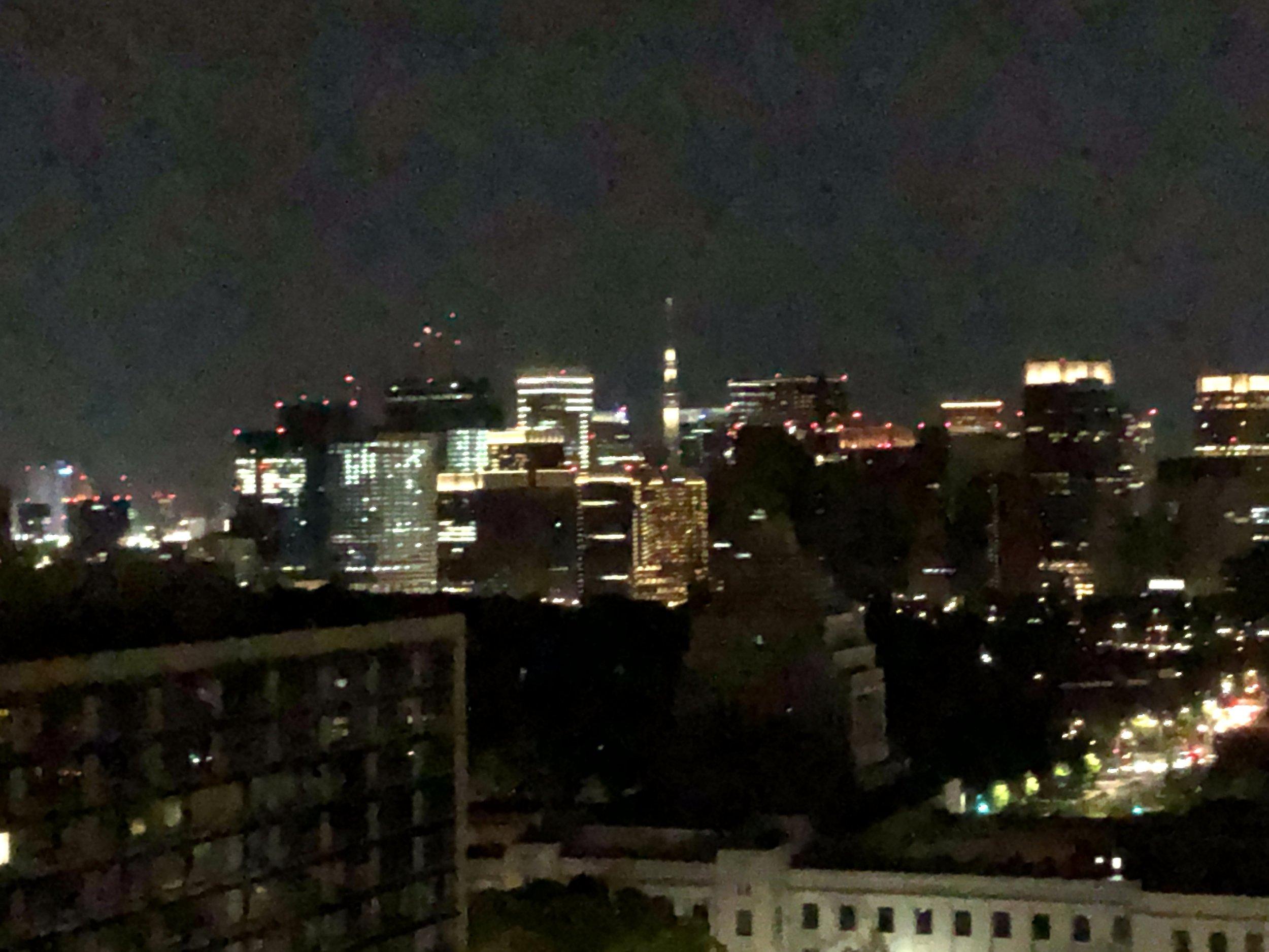 Tokyo at night (facing Ginza)