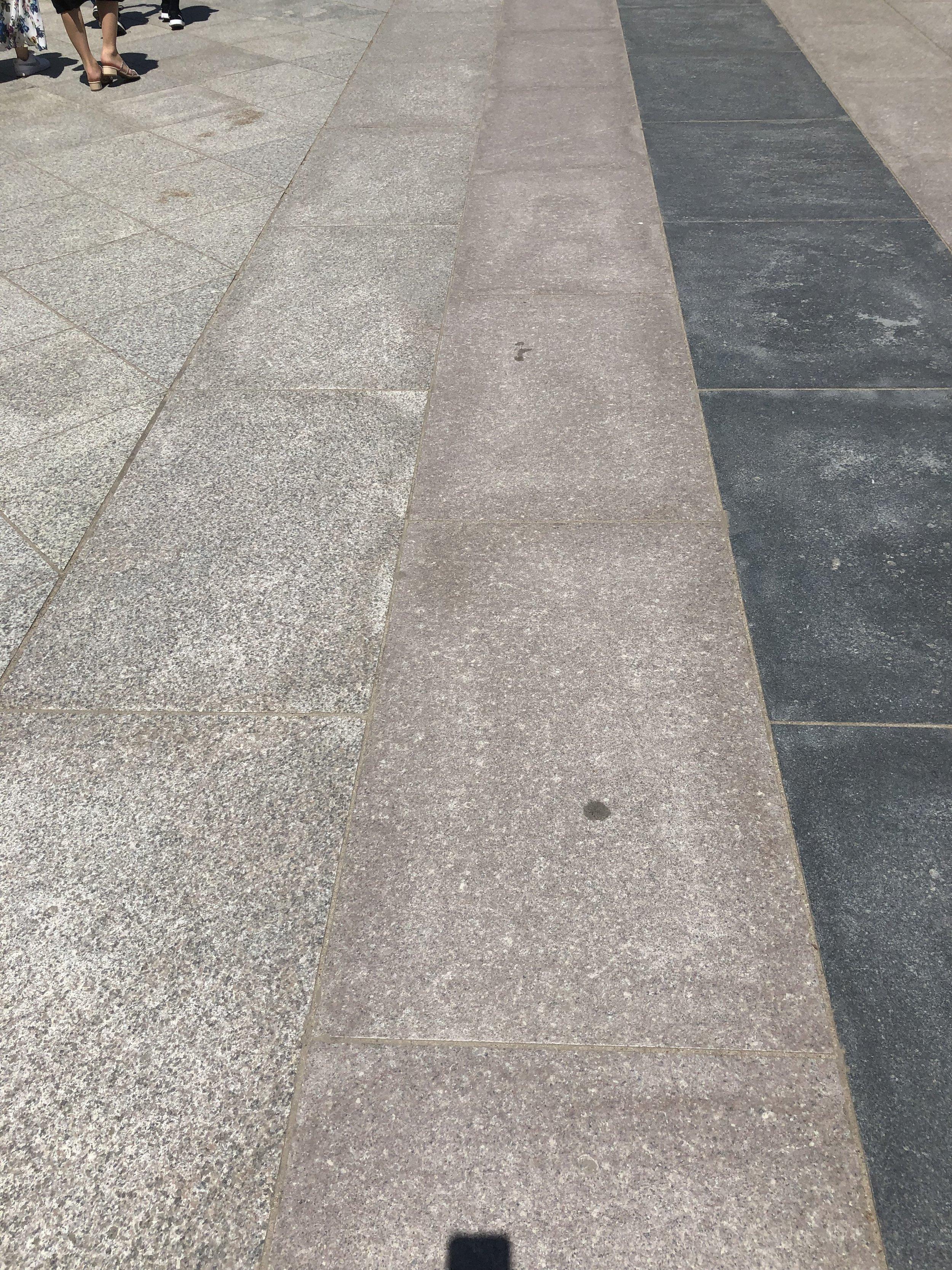 Buddhist progression from India to China, Korea then Japan, express in granite at Toda-ji (Nara))