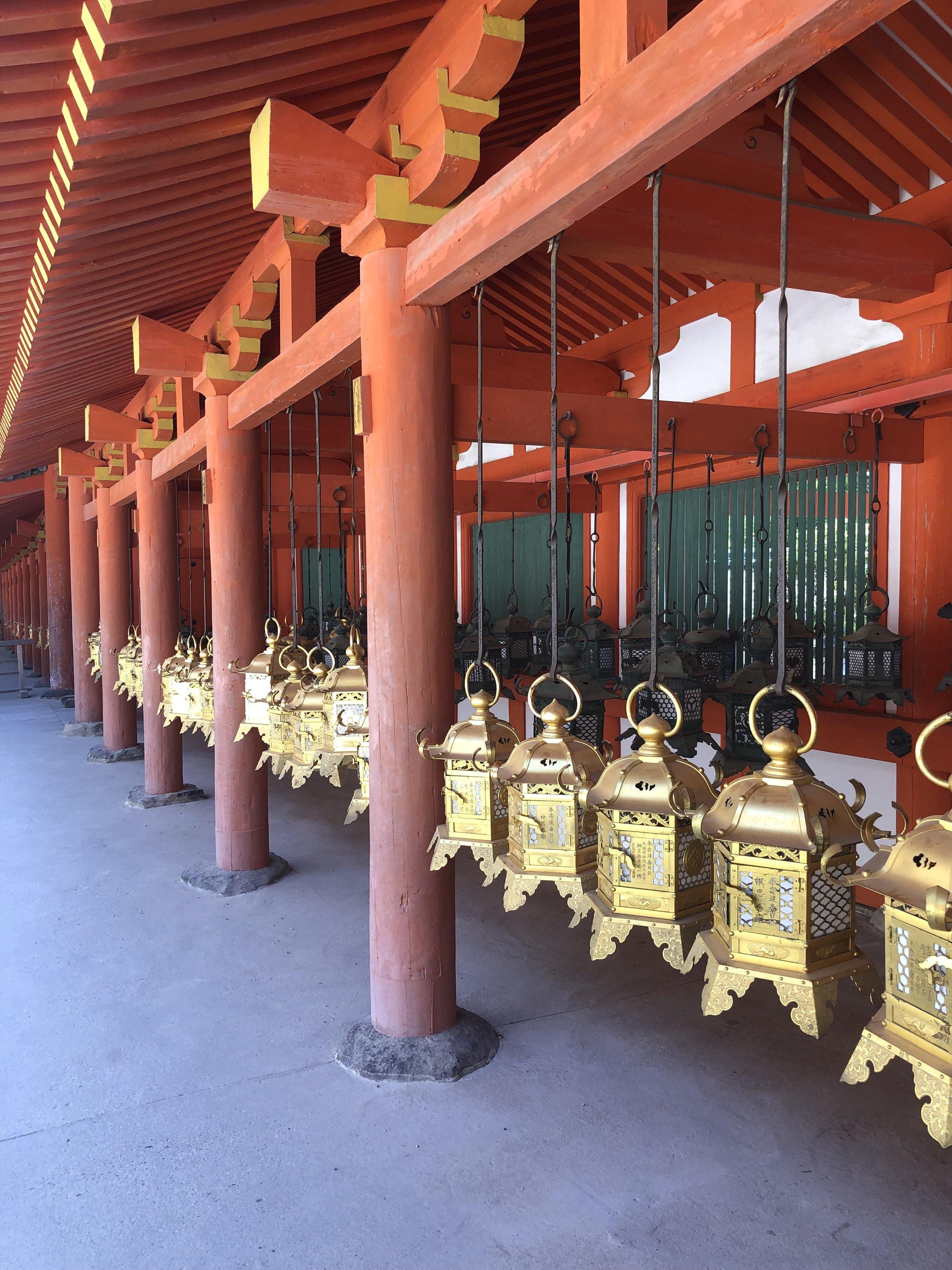 Golden Lanterns at Toda-ji (Nara)
