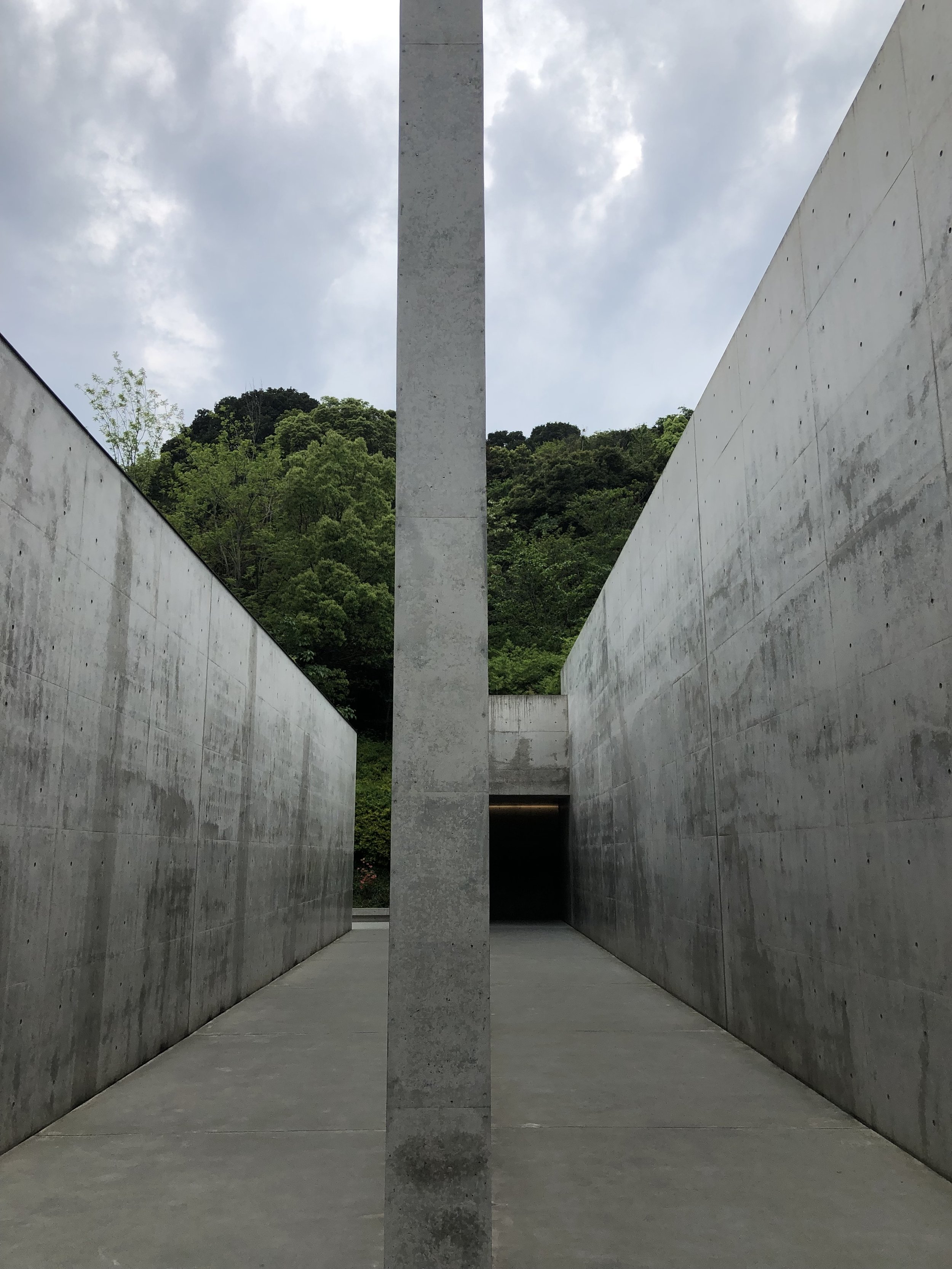 Entrance to Lee Ufan museum (Naoshima)