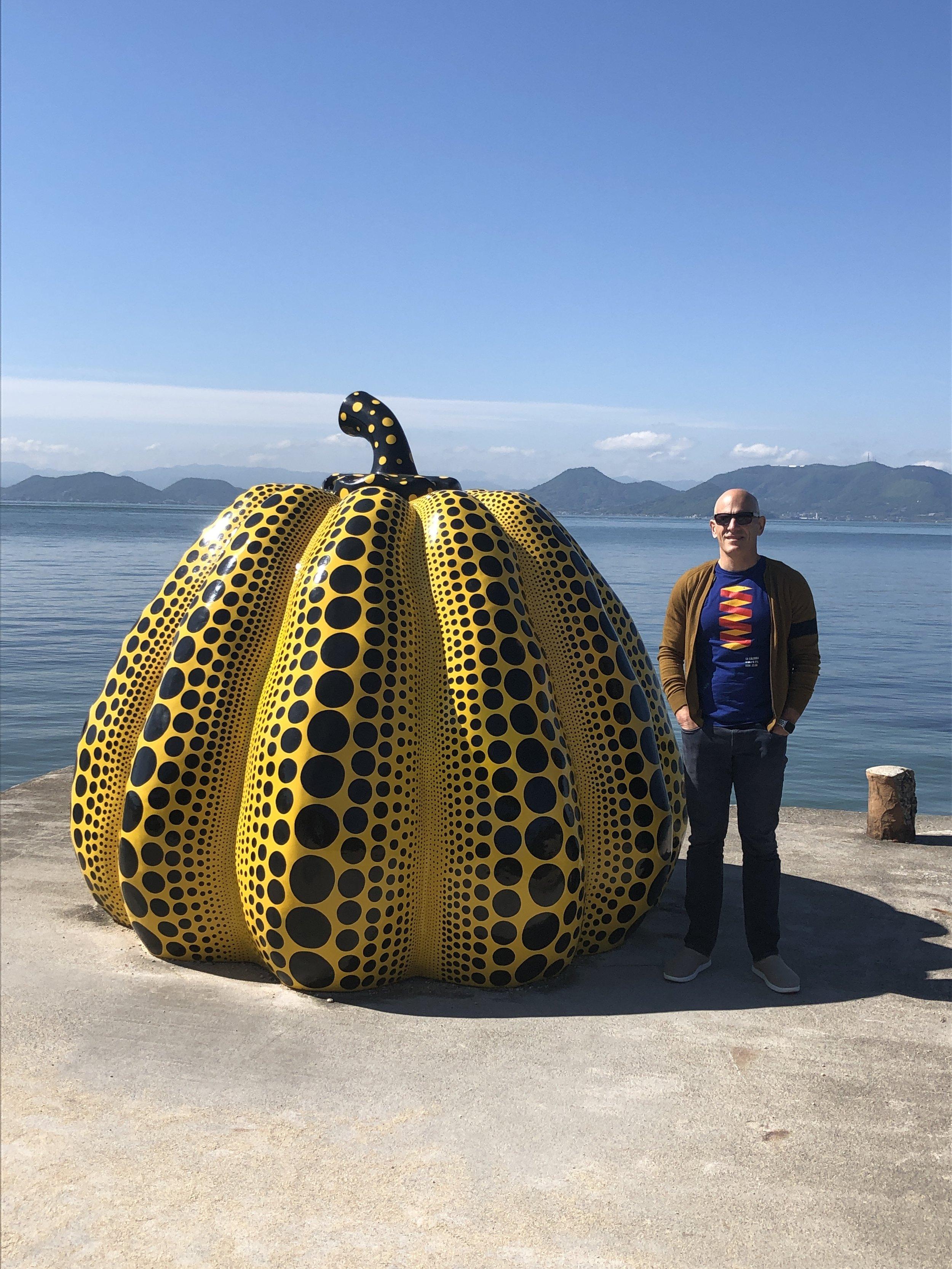 Yellow Pumpkin by Yayoi Kusama (Naoshima)