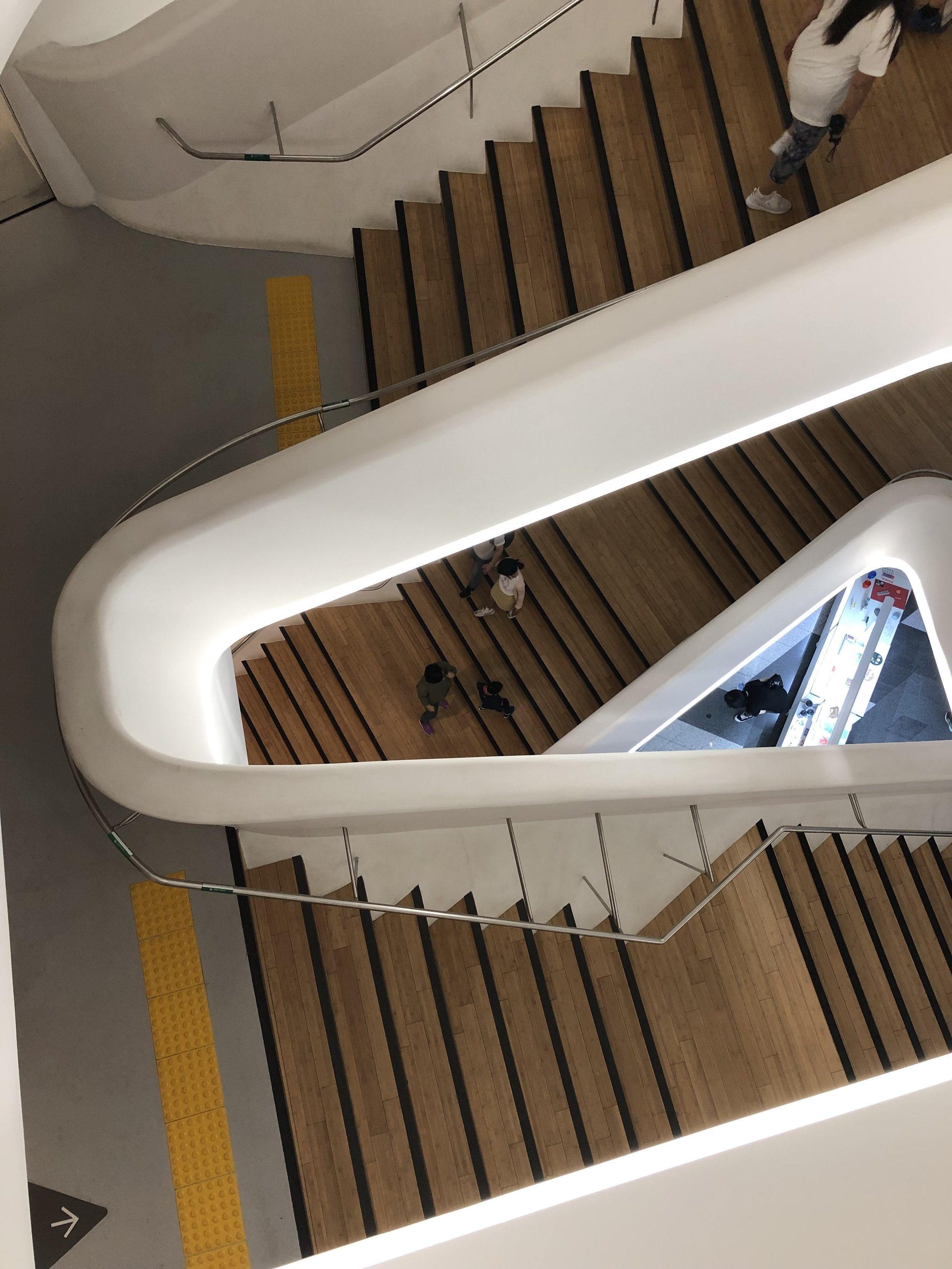 Staircase at Zaha Hadid's last act (DDP in Seoul)