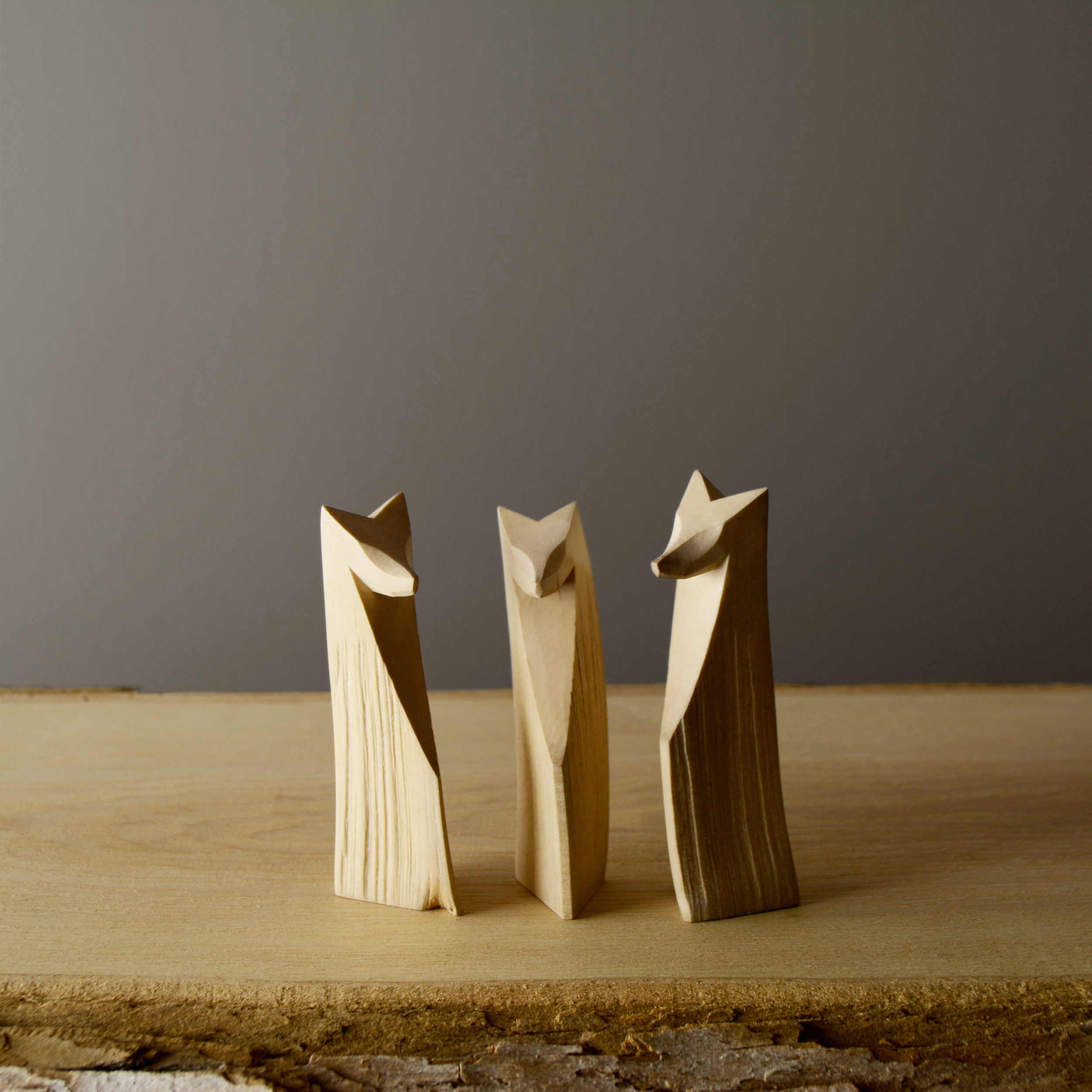 three foxes on ash plank.jpg