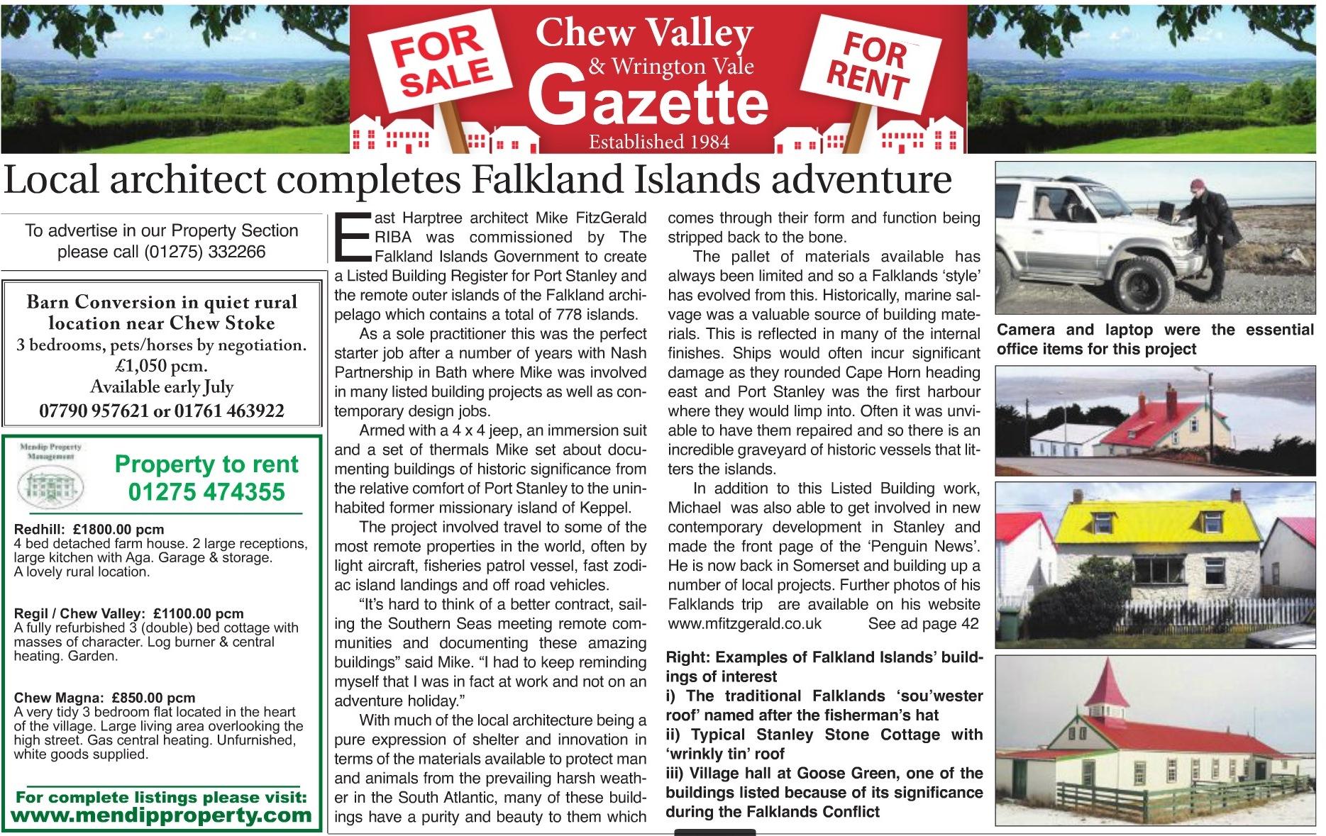 Chew Valley Gazette article June 2015