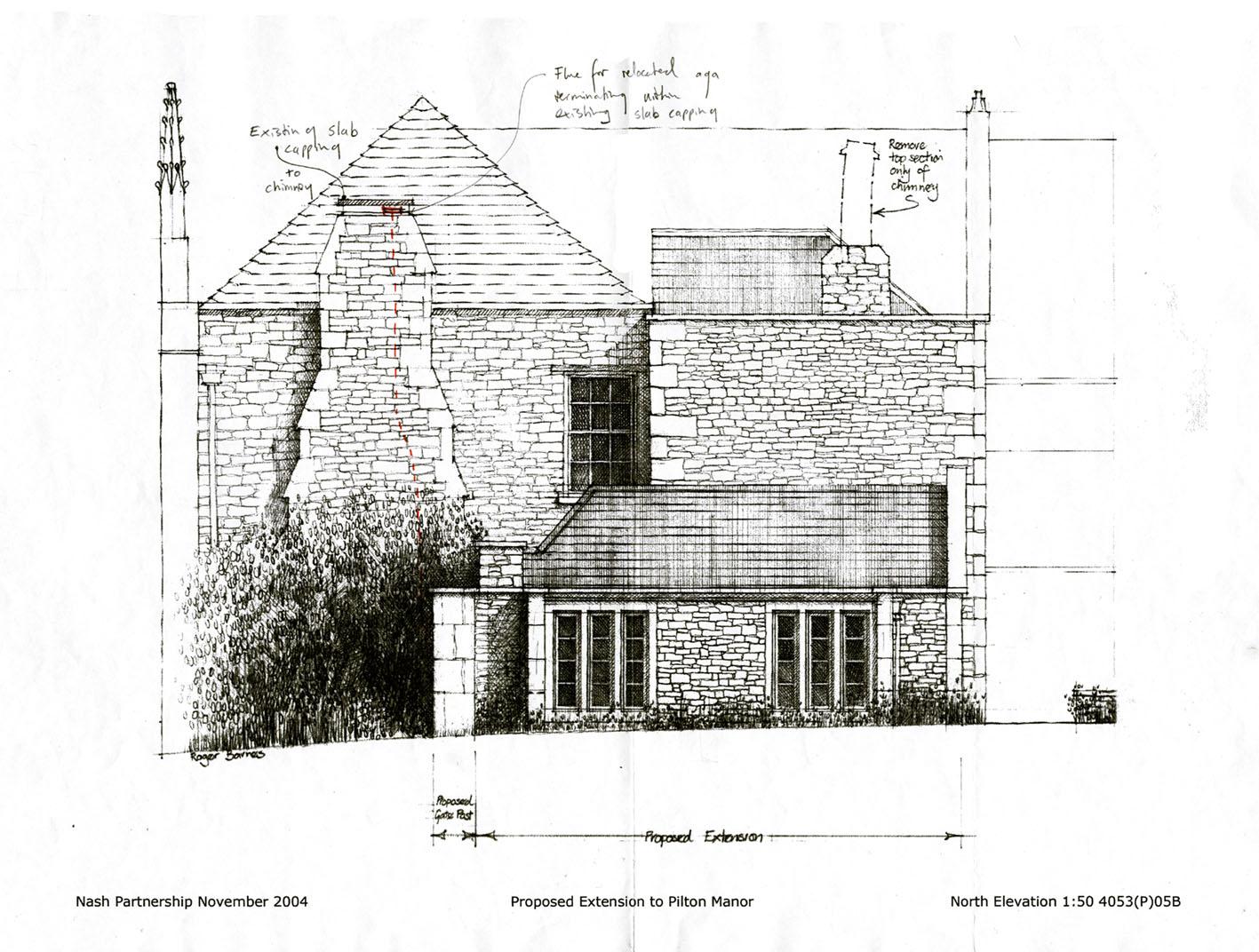 NEW BUILD KITCHEN EXTENSION, PILTON MANOR GRADE I LISTED BUILDING, PILTON, UK