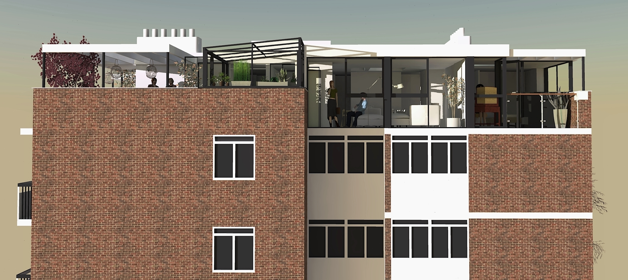 Penthouse Apartment, Camden 2017. Stage: Live Planning Application