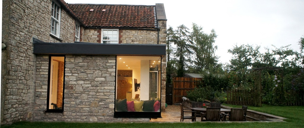 ROCK COTTAGE, Chew Stoke. Contemporary addition;Green Belt + Conservation Area.  Completed Summer 2017