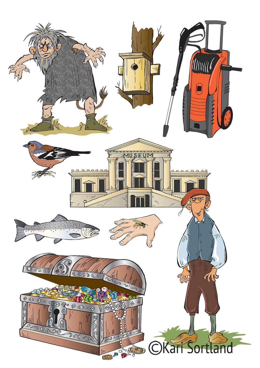Cumulus natur og samfunnsfag, 1-4 klasse. Illustrasjoner Kari Sortland