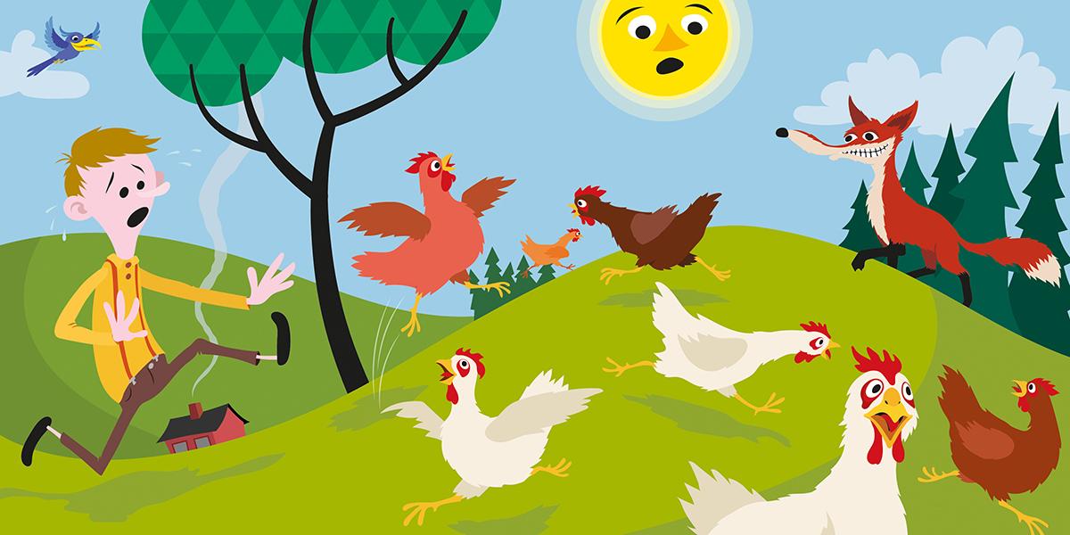 Pål sine høner , til boka  Du og jeg og vi to som kommer ut på Fortellerforlaget i oktober 2016.