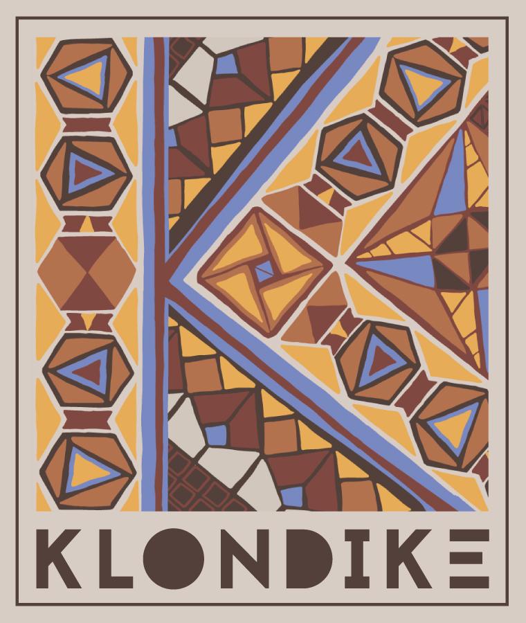 Pattern for Klondike Band (CD, Skjorter, Logo) Klondike ord er laget av Glenn Karlsen
