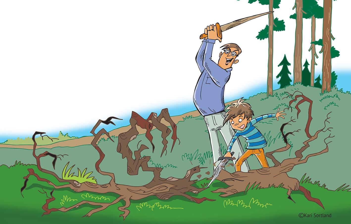 Barnebok, illustrasjoner kari Sortland