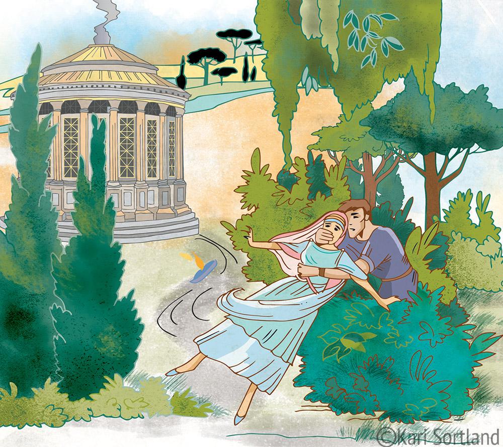 Marcus og Julia, Romerriket, Fagbokforlaget, Kari Sortland illustratør