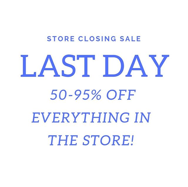 It's the last day to shop at Lily and Violet! Open until 2pm.