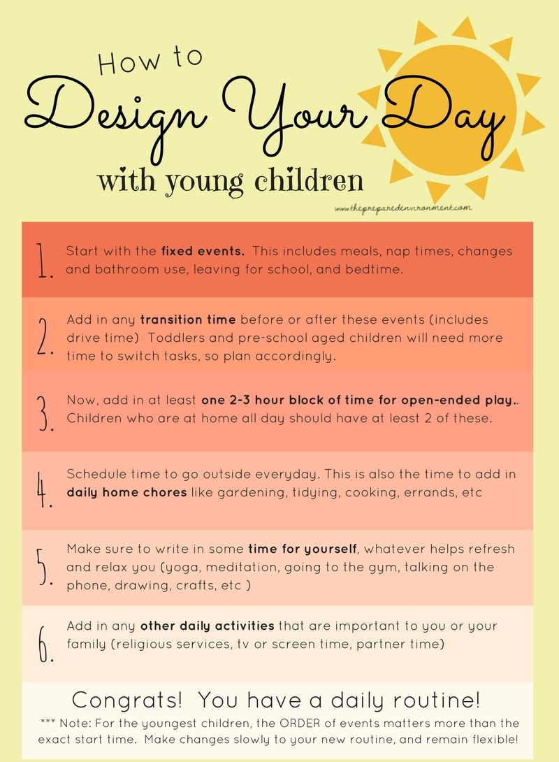 How to Design your Day with Young Children
