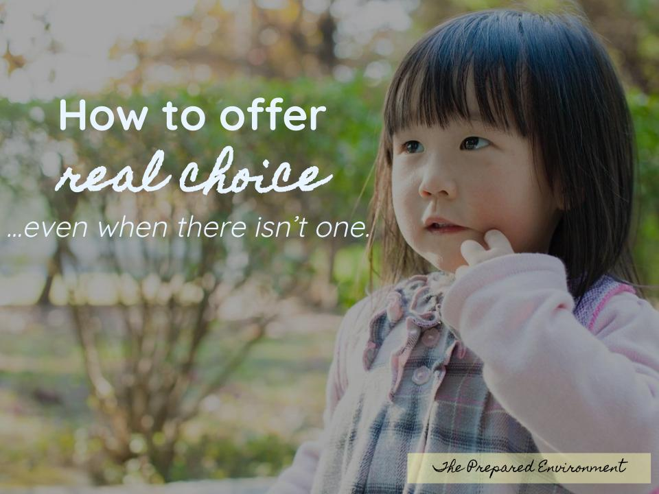 How to Offer Real Choice