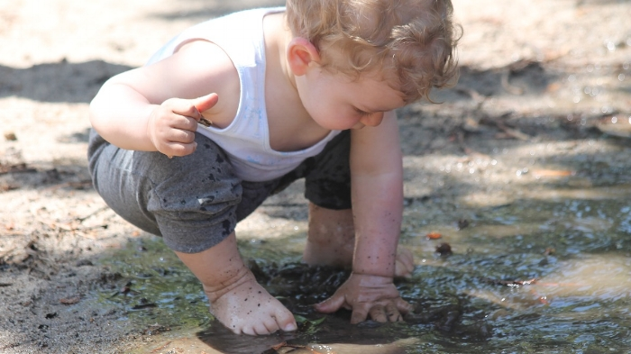 Don't be afraid for your toddler to get muddy!