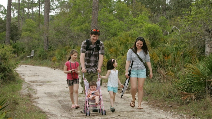 Go on a walk in nature as a family.
