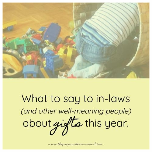 What to say to inlaws about gifts